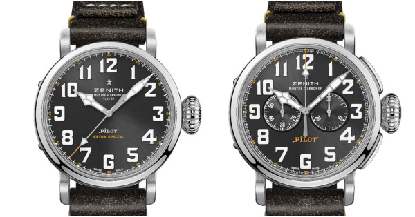 Zenith Pilot Type 20 Rescue and Pilot Type 20 Chronograph Rescue (Price, Pictures and Specifications)
