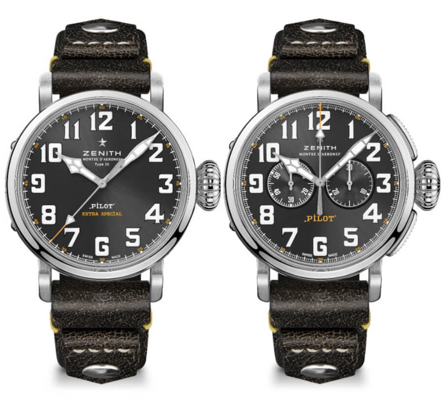 Zenith Pilot Type 20 Rescue and Pilot Type 20 Chronograph Rescue