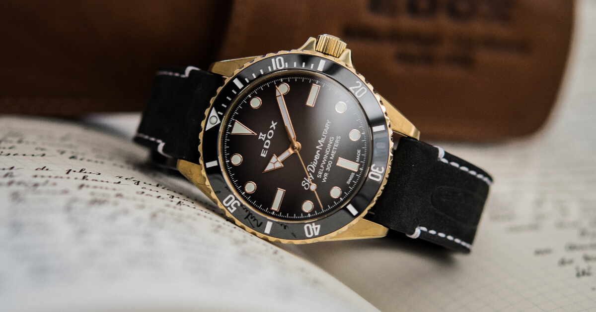 Edox SkyDiver Military Bronze Limited Edition (Price, Pictures and Specifications)