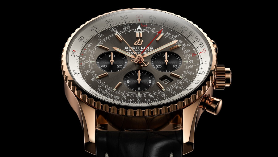 Breitling Navitimer B03 Chronograph Rattrapante 45 18 k Dial