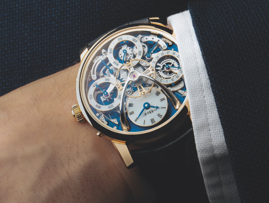 MB&F Legacy Machine Perpetual In Yellow Gold Watch Review