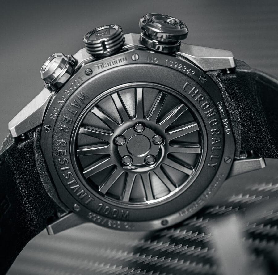 Edox Chronorally X-Treme Pilot Limited Edition Case Back