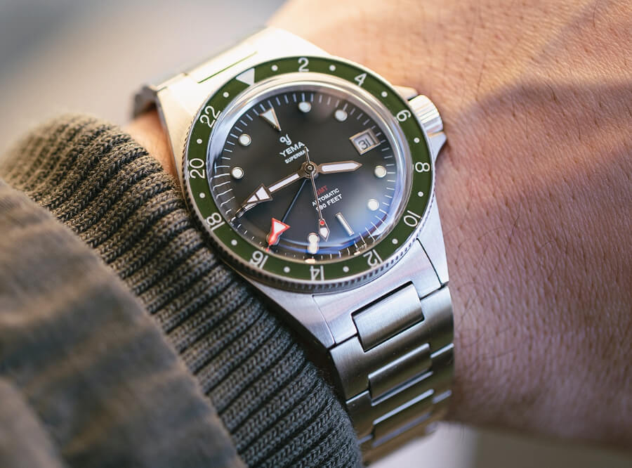 Yema Superman GMT Khaki Green Watch Review