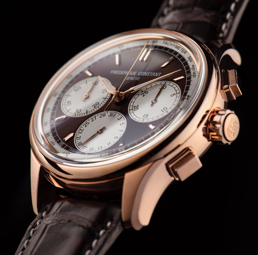 Gold watch Flyback Chronograph