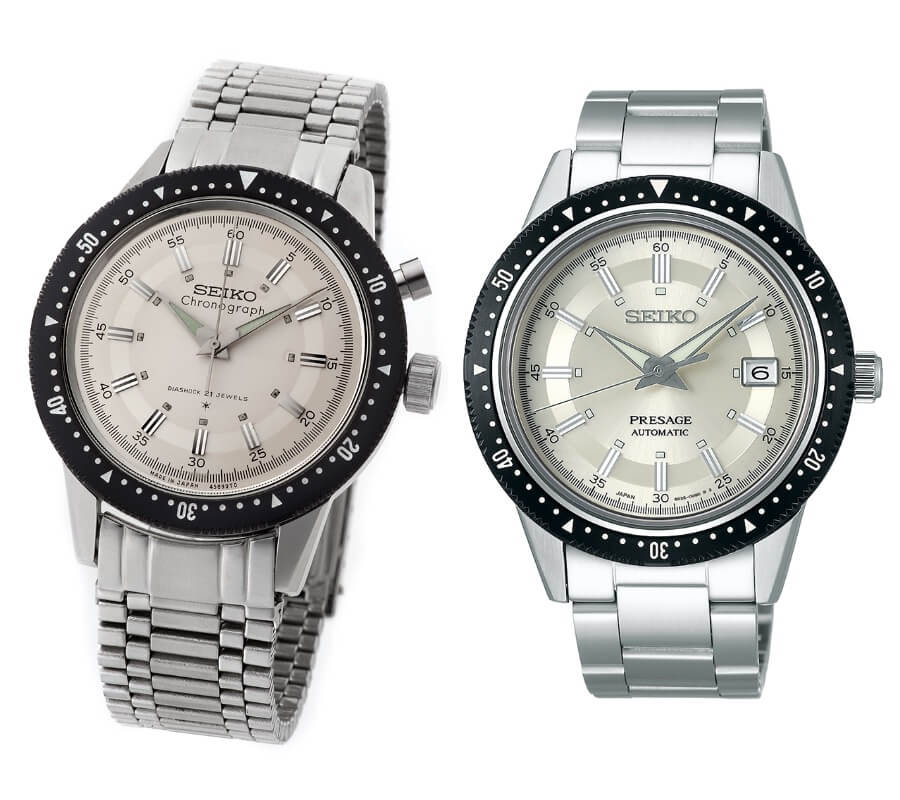 Seiko Crown Chronograph from 1964 and Seiko Presage Prestige Line 2020 Limited Edition