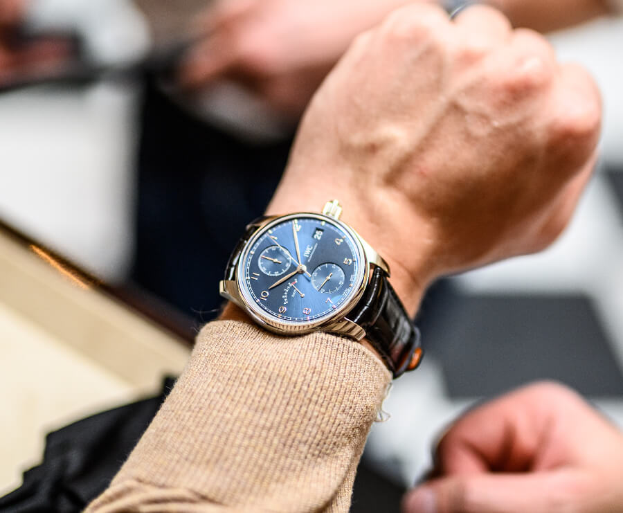 """IWC Portugieser Hand-Wound Monopusher Edition """"Laureus Sport For Good"""" Watch Review"""
