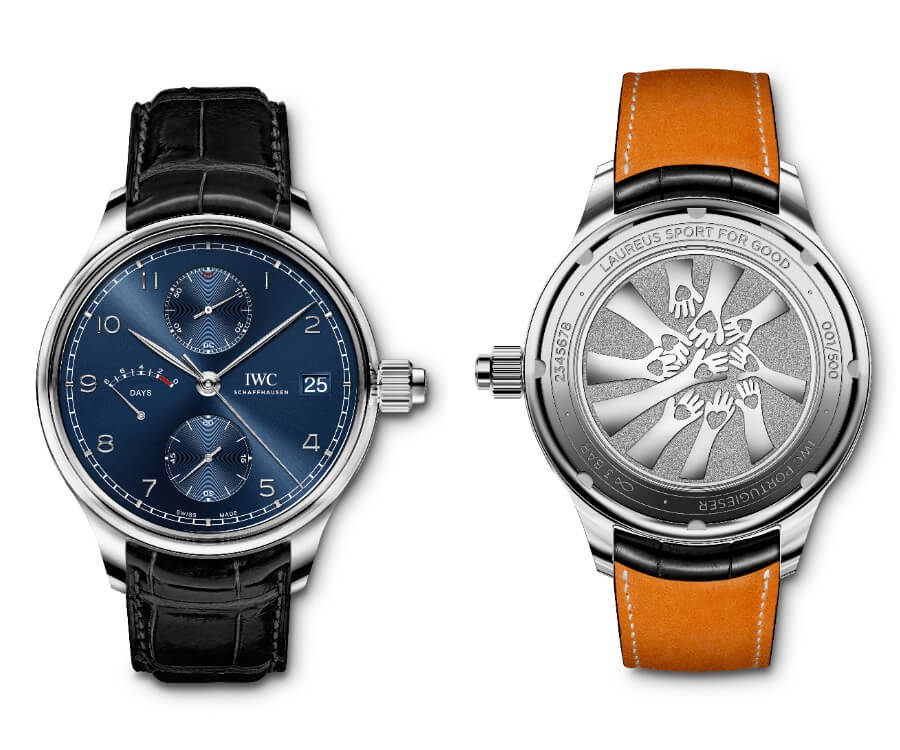 """The New IWC Portugieser Hand-Wound Monopusher Edition """"Laureus Sport For Good"""""""