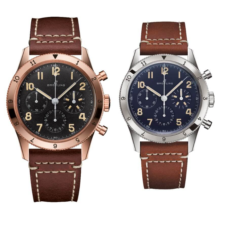 Breitling launched its Ref. 765 AVI 18k Red Gold and Platinum