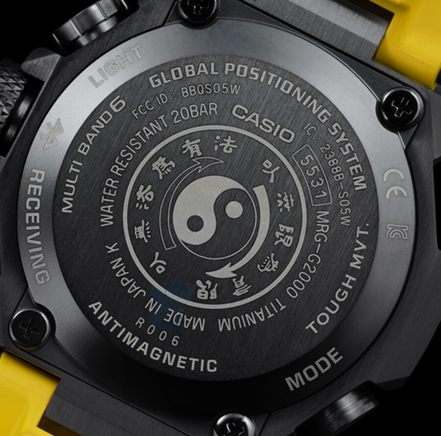 Casio G-Shock MR-G X Bruce Lee Model Ref. MRGG2000BL-9A Caseback