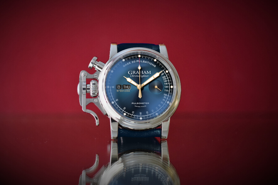 Graham Chronofighter Vintage Pulsometer Ltd Blue Dial