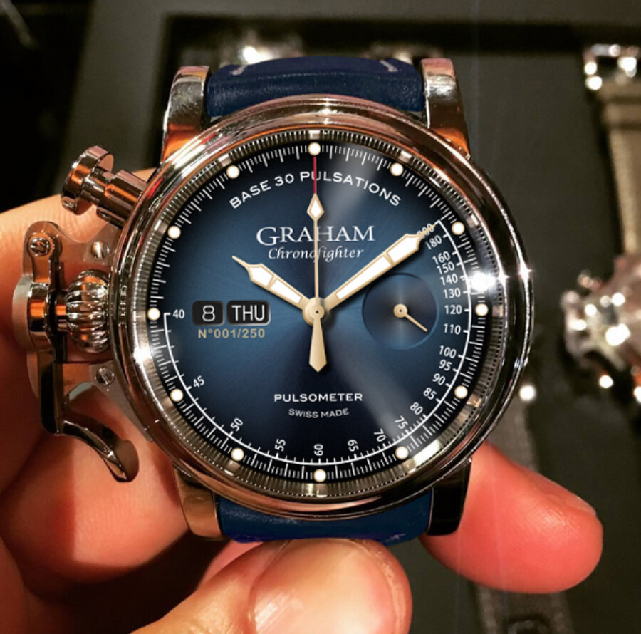 Graham Chronofighter Vintage Pulsometer Ltd Blue Dial Ref. 2CVCS.U14A  Hands On