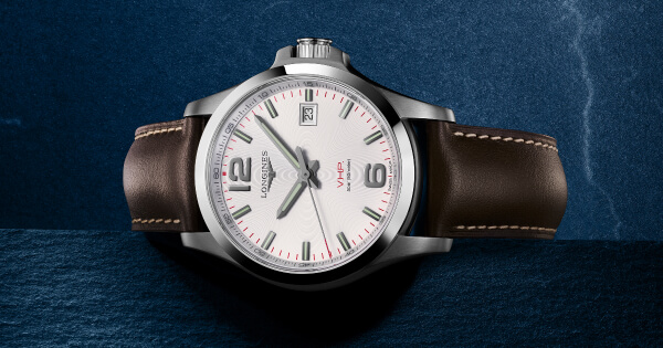 Longines adorns its Conquest V.H.P. with leather (Price, Pictures and Specifications)