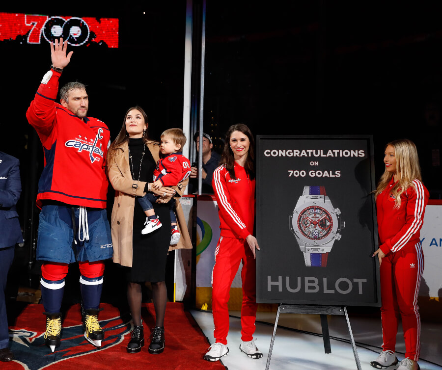 Washington Capitals ice hockey player Alexander Ovechkin's 700th career goal