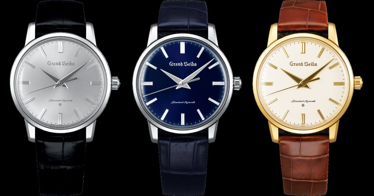 Re-Creations Of The First Grand Seiko Ref. SBGW257, SBGW258, SBGW259 (Price, Pictures and Specifications)