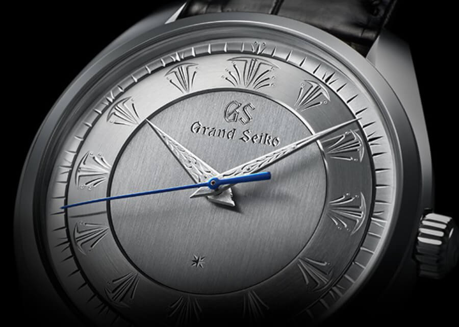Hand Engraved Grand Seiko watch