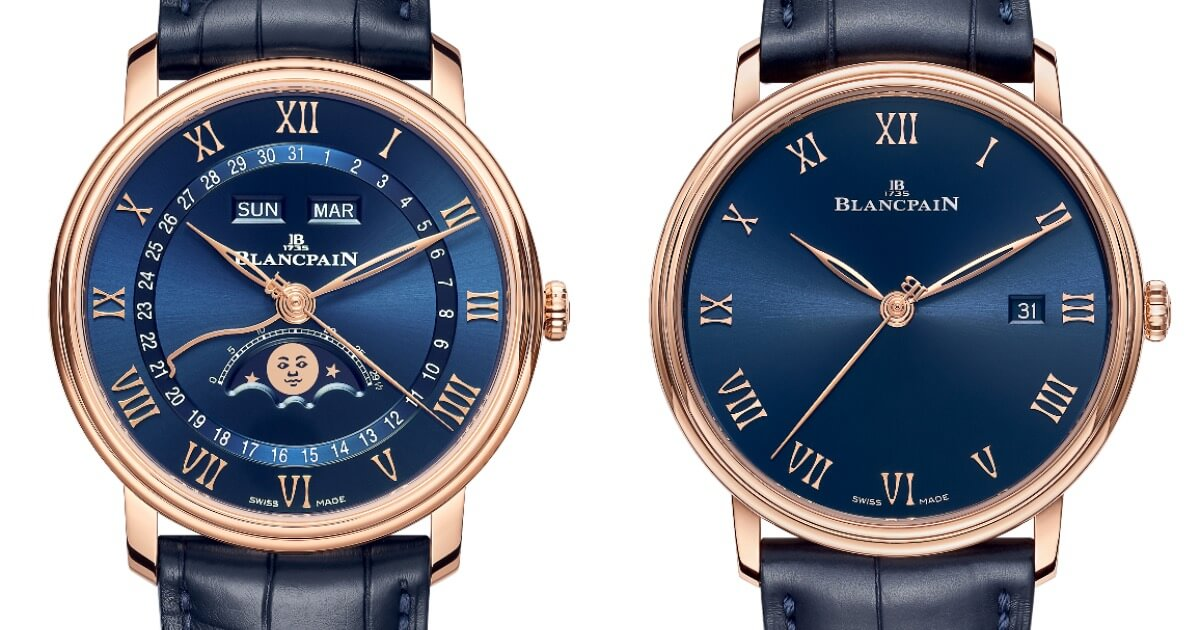 Blancpain Villeret Quantième Complet and Villeret Ultraplate Blue Dials (Price, Pictures and Specifications)