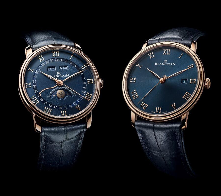 Blancpain Villeret Quantième Complet and Villeret Ultraplate Blue Dials