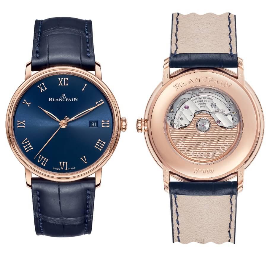 Blancpain Villeret Ultraplate Blue Dial Men Watches