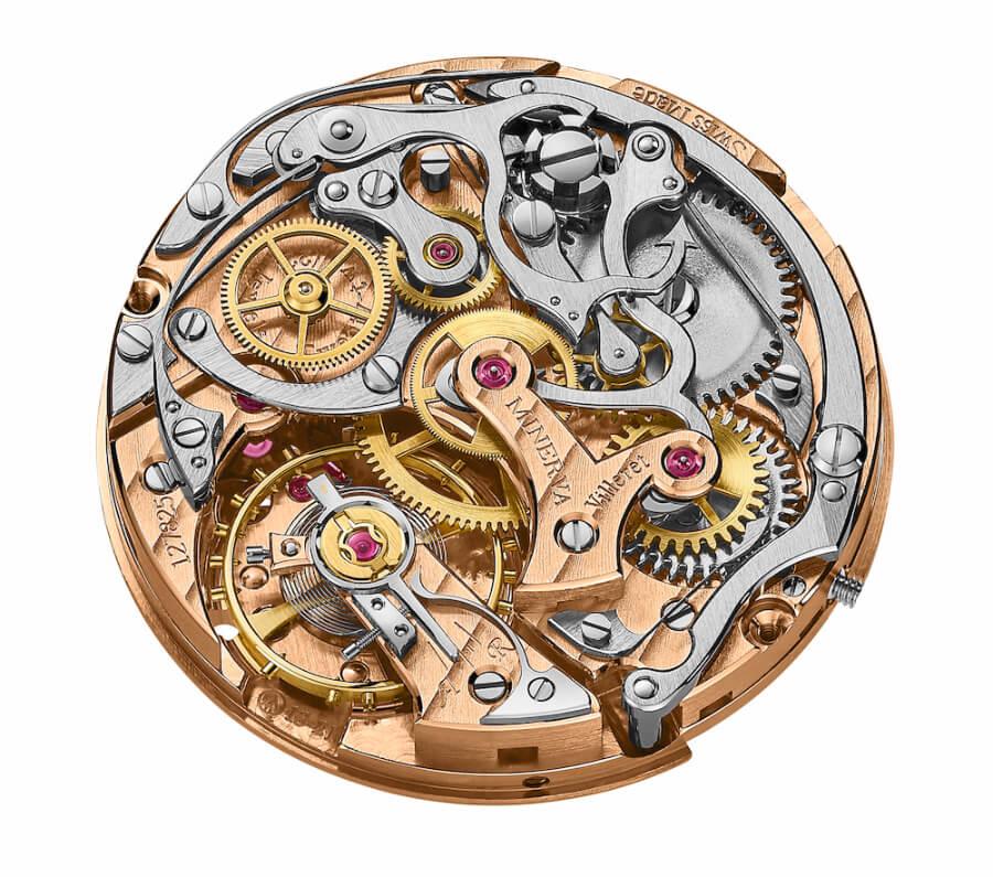 Minerva Montblanc Calibre MB M13.21 Chronograph Manual Movement