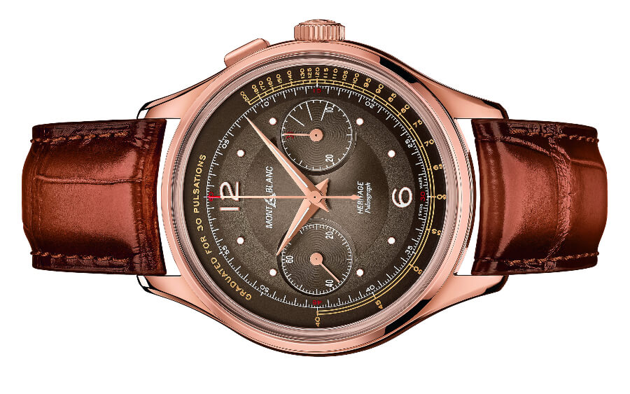 Pulsometre Scale Chronograph Watch