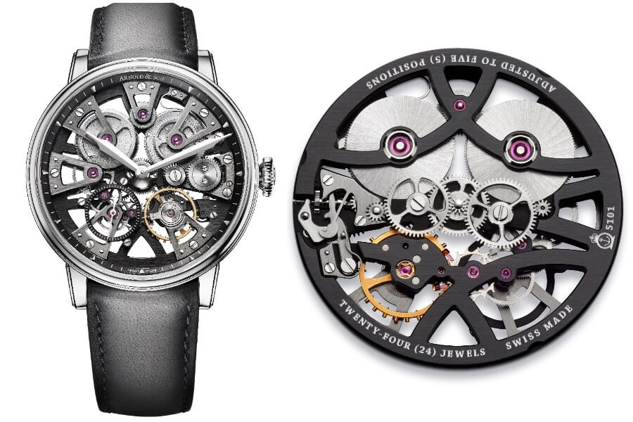 Arnold & Son Nebula 38 Steel Men Watch