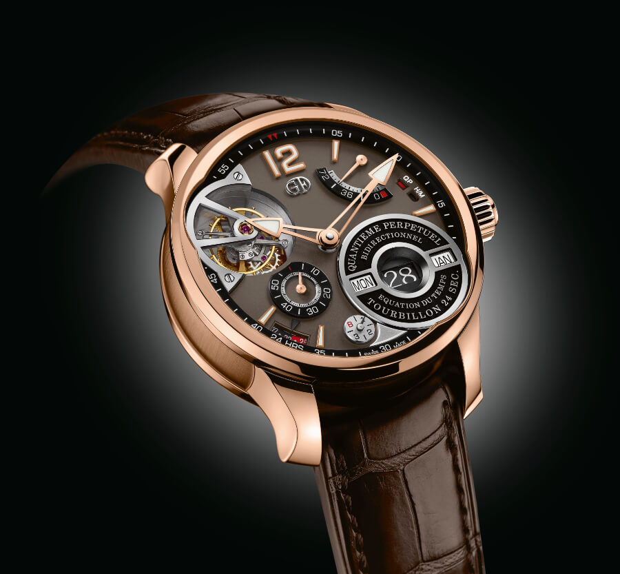 The New Greubel Forsey QP À Équation In A 5N Red Gold Millesime With A Chocolate Coloured Gold Dial