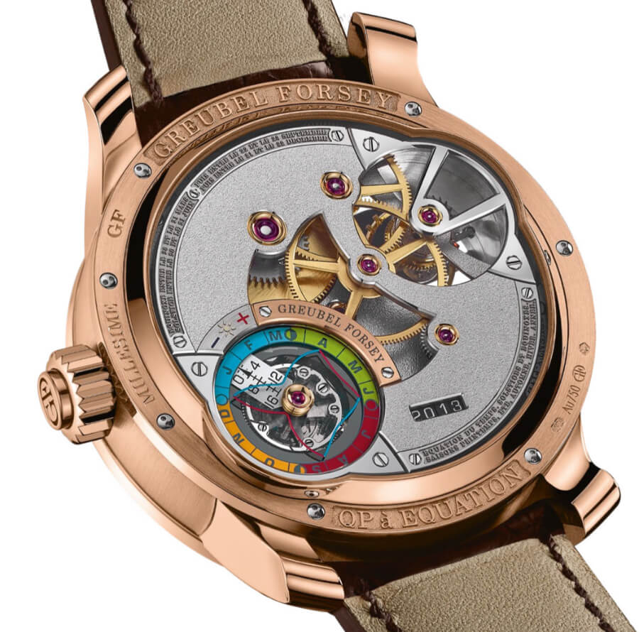 Greubel Forsey QP À Équation In A 5N Red Gold Millesime With A Chocolate Coloured Gold Dial Movement