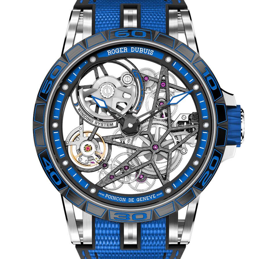 Men Swiss Skeleton Watch