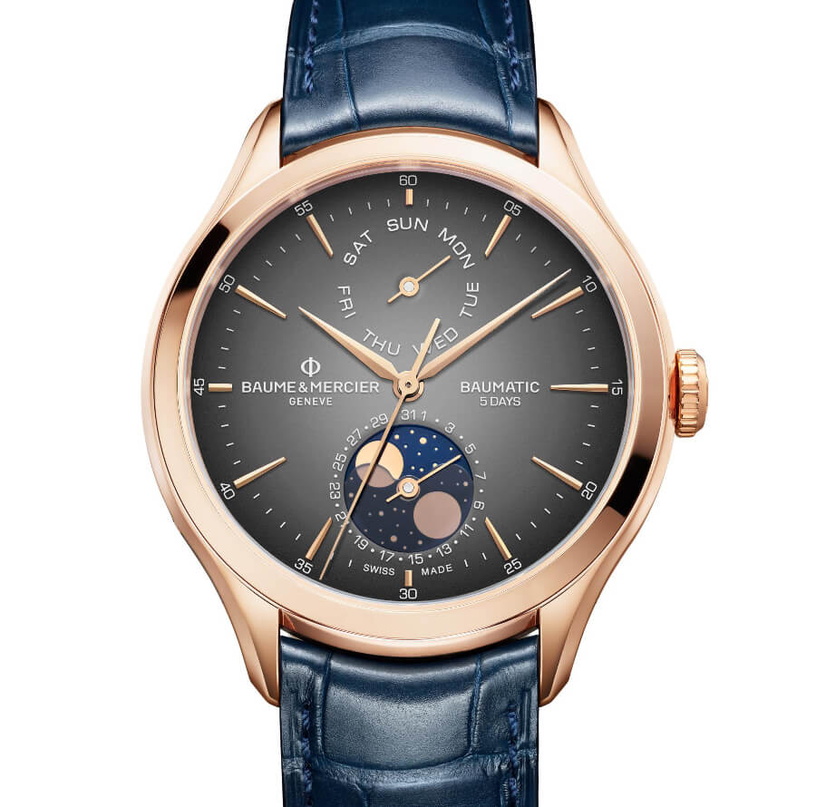 The New Baume & Mercier Clifton Baumatic Day-Date, Moon-Phase