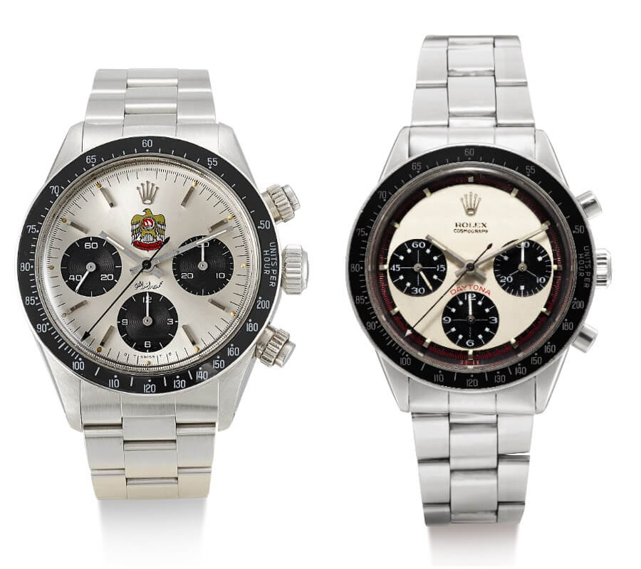 Rolex Daytona, reference 6263 in stainless steel and a Rolex Paul Newman Daytona, reference 6241, circa 1968