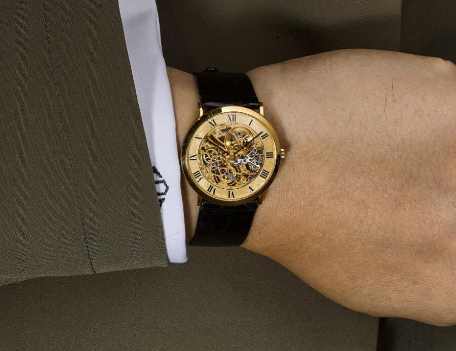 Audemars Piguet An Ultra-Thin Yellow Gold Skeletonised Wristwatch, Circa 1980