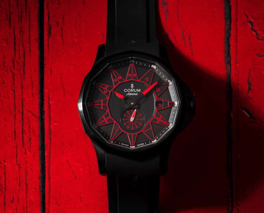 Corum Admiral 42 Automatic Full Black Red