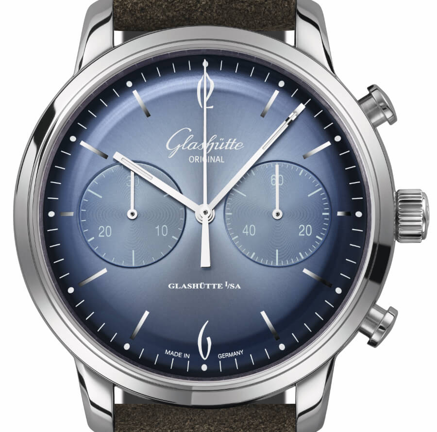 Glashütte Original Sixties Chronograph Annual Edition 2020 blue Dial