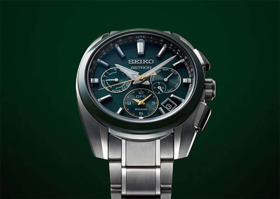 Seiko Astron GPS Solar 5X53 Dual-Time Sport Titanium Green Watch Review