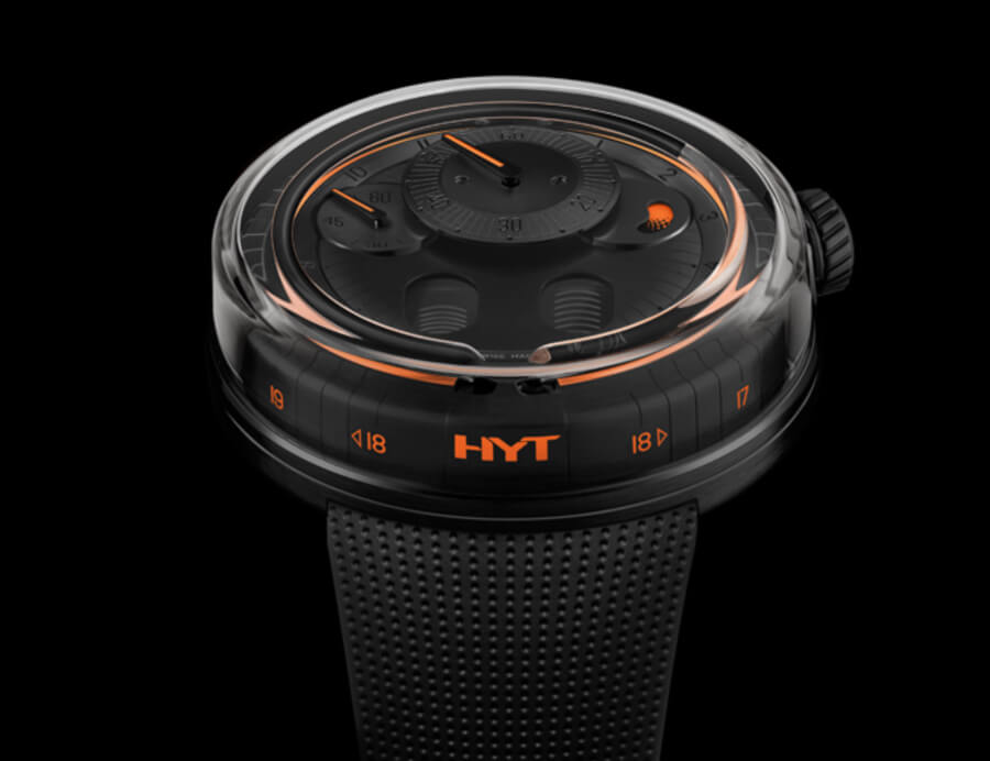 The New HYT H0 Black & Orange Watch