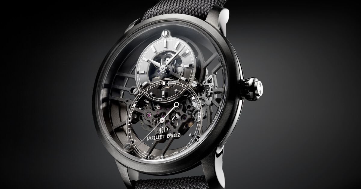 Jaquet Droz Grande Seconde Skelet-One Plasma Ceramic and Grande Seconde Skelet-One Red Gold (Price, Pictures and Specifications)