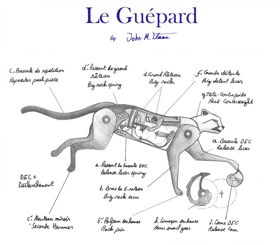 John-Mikael Flaux Le Guepard Clock