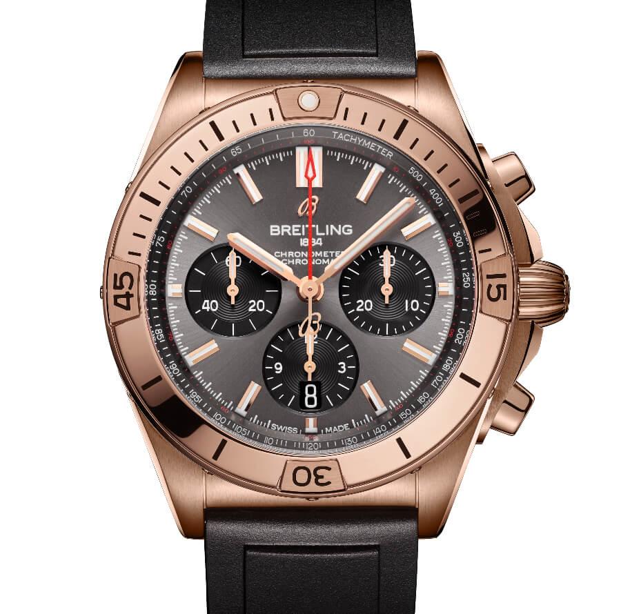 Breitling Chronomat B01 42 18 K Red Gold Case