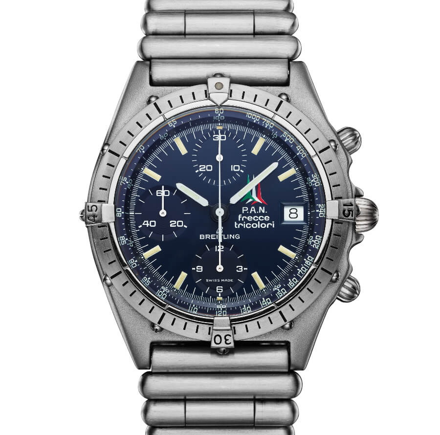 Breitling Frecce Tricolori watch from 1983 that inspired the Chronomats introduced in 1984