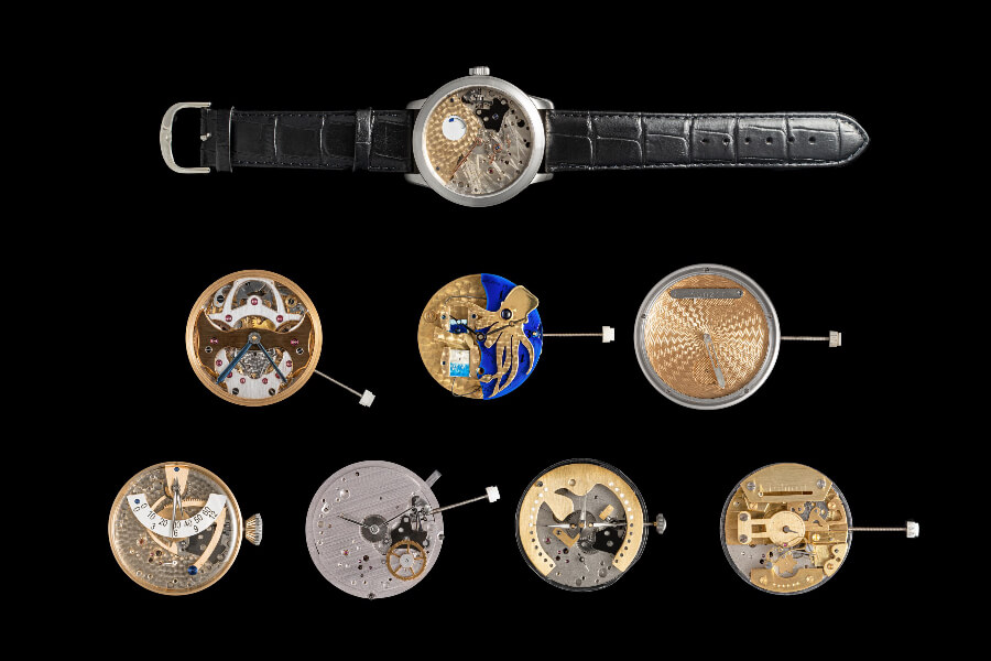 All submitted entries from the Walter Lange Watchmaking Excellence Award with a 10,000 Euro prize