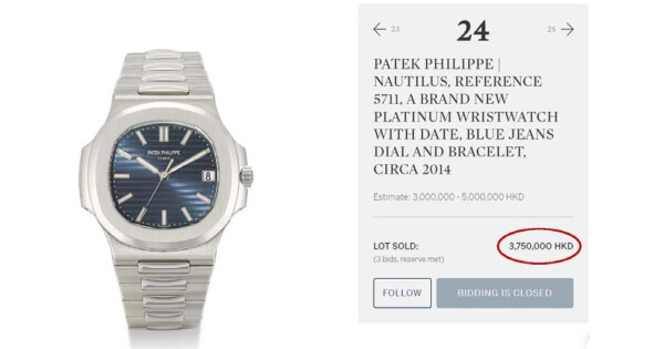 A Patek Philippe Nautilus, Ref. 5711 Sold For US$ 484,000