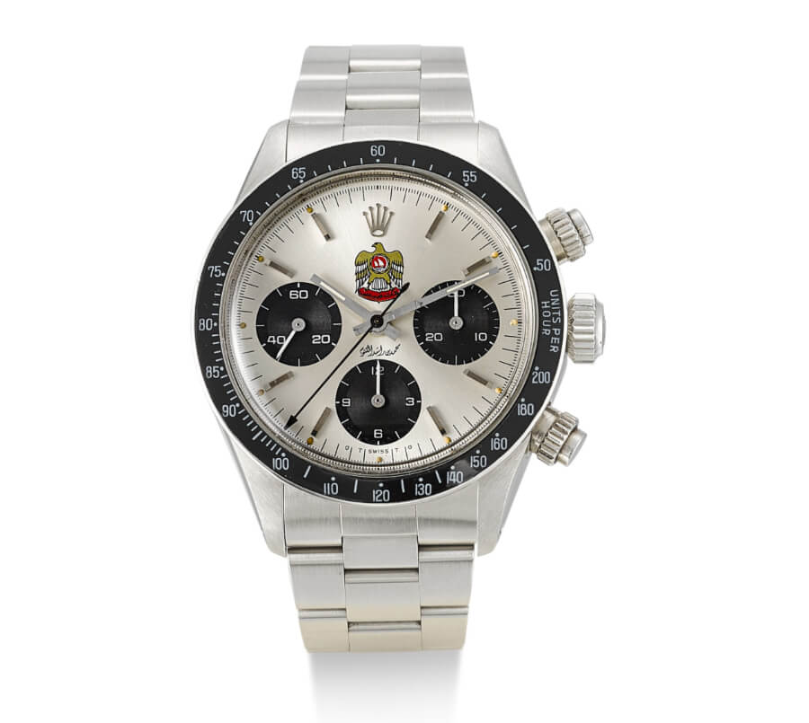 Rolex Daytona, reference 6263 in stainless steel, made for made for Mohammed Bin Rashid Al Maktoum, circa 197