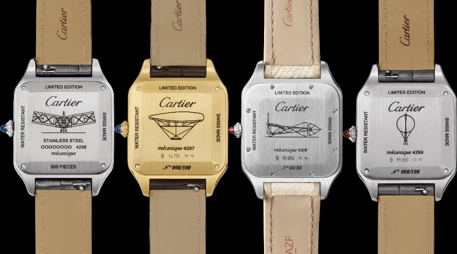 Cartier Engraved Santos-Dumont Limited-Edition Watches