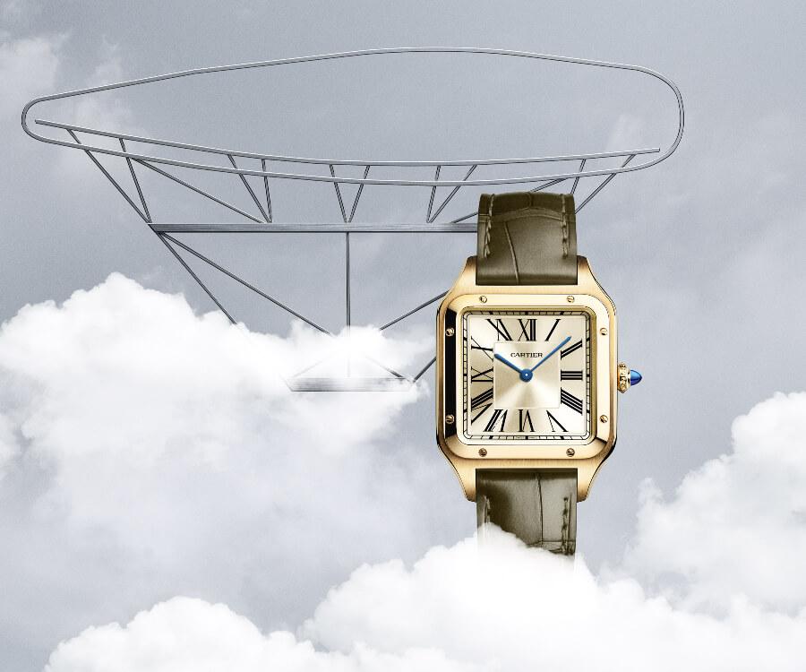"The New The Cartier ""La Baladeuse"" Santos-Dumont watch"