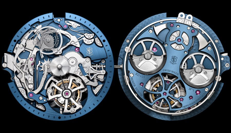 RD0107 Calibre, Mechanical automatic with minute repeater and single flying tourbillon
