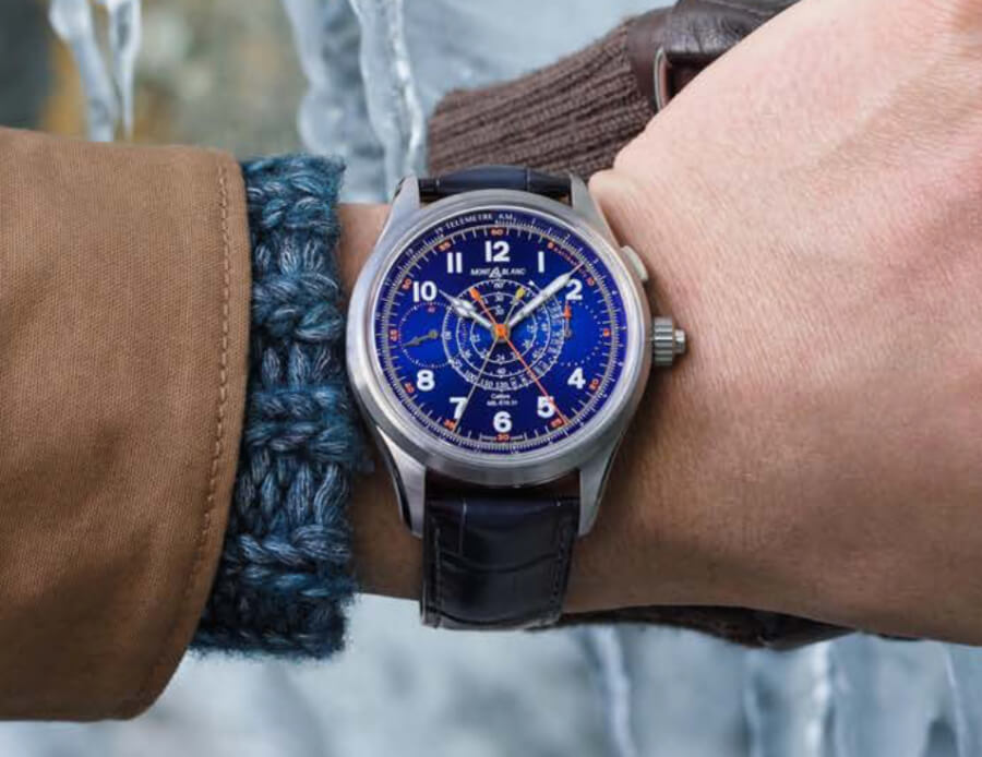Montblanc 1858 Split Second Chronograph Limited Edition 100 Blue Watch review