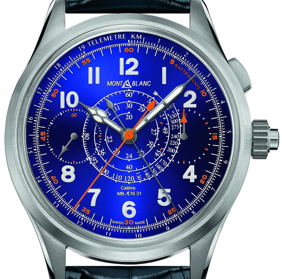 Montblanc 1858 Split Second Chronograph Limited Edition 100 Blue Watch