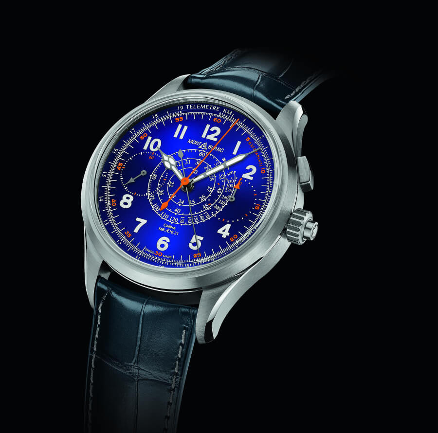 Montblanc 1858 Split Second Chronograph Limited Edition 100 Blue Dial