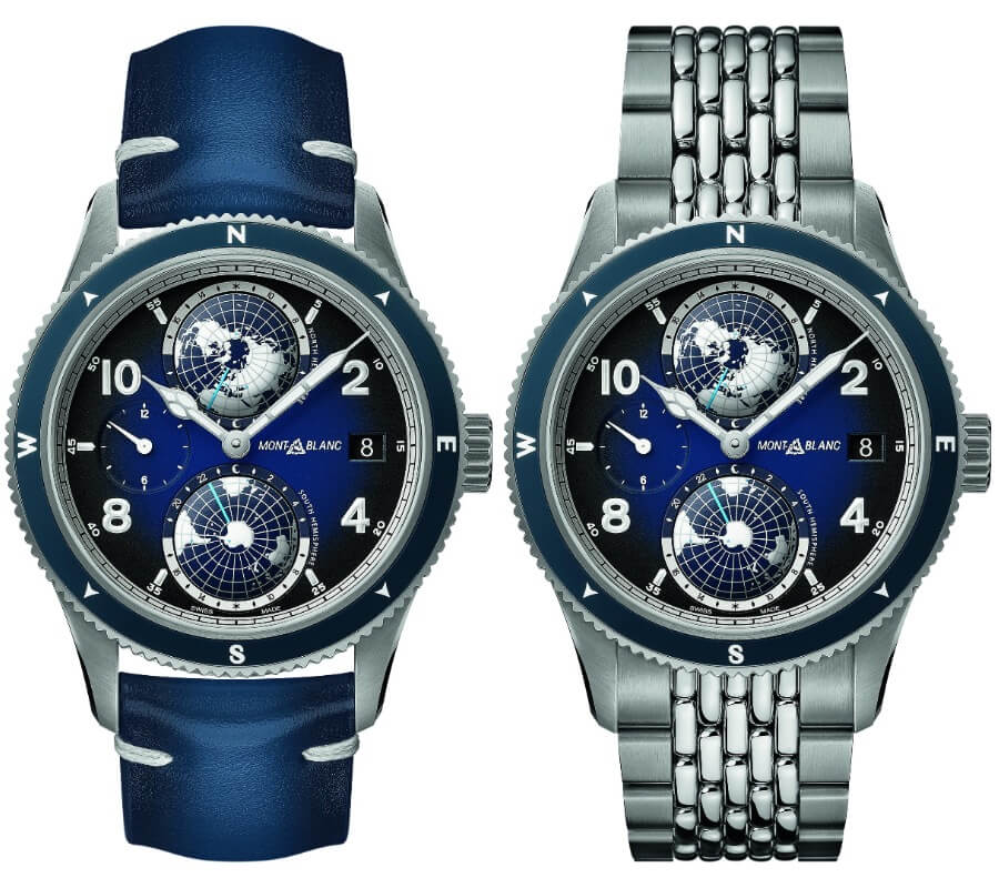 The New Montblanc 1858 Geosphere In Blue