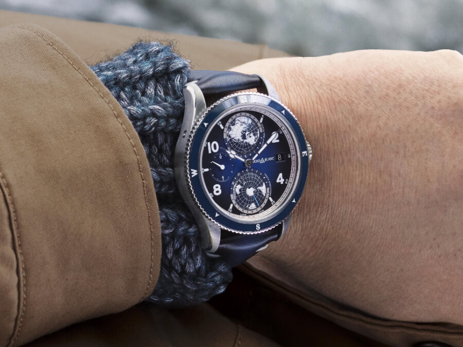 Montblanc 1858 Geosphere Blue watch Review